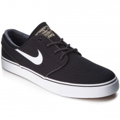 Nike Zoom Stefan Janoski Canvas Shoes - Black/Light Brown/Gold/White