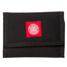 Obey Revolt Red Tri-Fold Wallet - Black