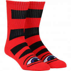 Toy Machine Sect Eye Big Stripe Socks - Red