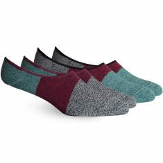 Richer Poorer Riker No Show 2-Pack Socks - Black/Brown