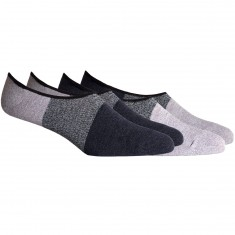 Richer Poorer Riker No Show 2-Pack Socks - White/Black