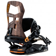 Rome Katana Snowboard Bindings 2018 - Wood