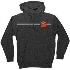 Santa Cruz Classic Dot Pullover Hooded Sweatshirt - Charcoal Heather