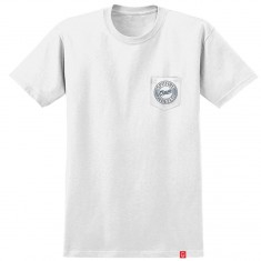 Spitfire Flying Classic Pocket T-Shirt - White/Navy/Red
