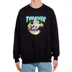Thrasher Babes Crewneck Sweatshirt - Black