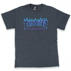 Thrasher Flame Logo T-Shirt - Dark Heather