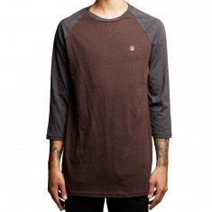 Volcom Solid Heather 3/4 Raglan Shirt - Plum Heather