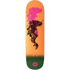 Welcome Koi Boi on Big Bunyip Skateboard Deck - Neon Orange - 8.5