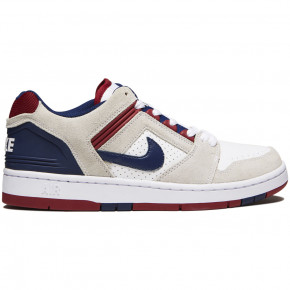 Nike SB Air Force II Low Shoes - White/Blue Void/Red Crush White
