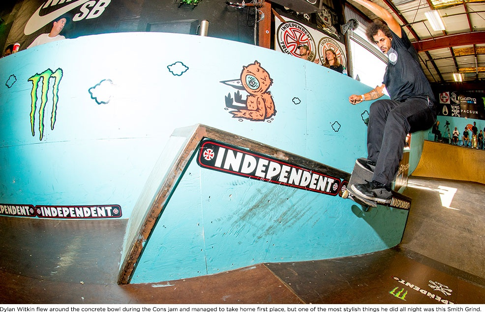 Blake Johnson is no stranger to swimming up stream. He was laying these Smith Grinds down, or I guess, up the hubba all weekend.
