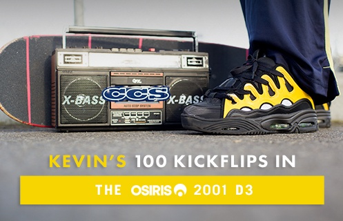 100 Kickflips In The Osiris D3