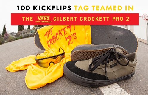 100 Kickflips In The Vans Gilbert Crockett 2