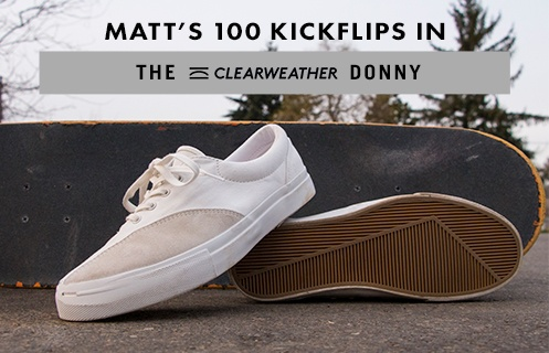 100 Kickflips In The Clear Weather Donny
