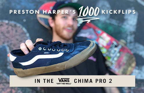 1,000 Kickflips In The Vans Chima Pro 2 Shoes