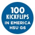 100 Kickflips In The Emerica Hsu G6 Shoes