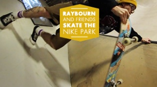 Raybourn Backflips At Nike SB Park