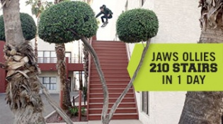 Jaws Ollies 210 Stairs In One Day