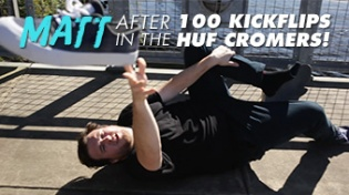 100 Kickflips in the HUF Brad Cromer Shoes