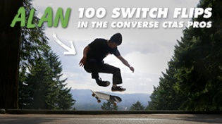 100 Kickflips (Switch Flip Edition) In The Converse CTAS Pros