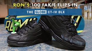100 Kickflips (Fakie Edition) In The Globe CT-IV DLX Shoes