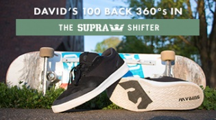 100 Backside 360's In The Supra Shifters