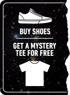 Buy Shoes, Get A Free Mystery Tee!