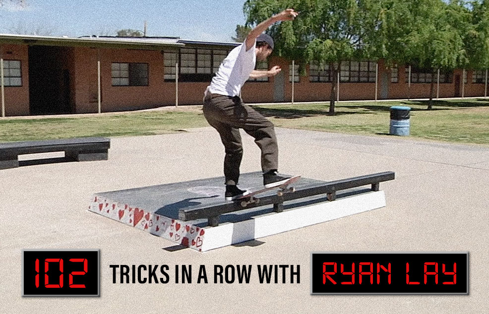 Ryan Lay and A 102 Trick Line