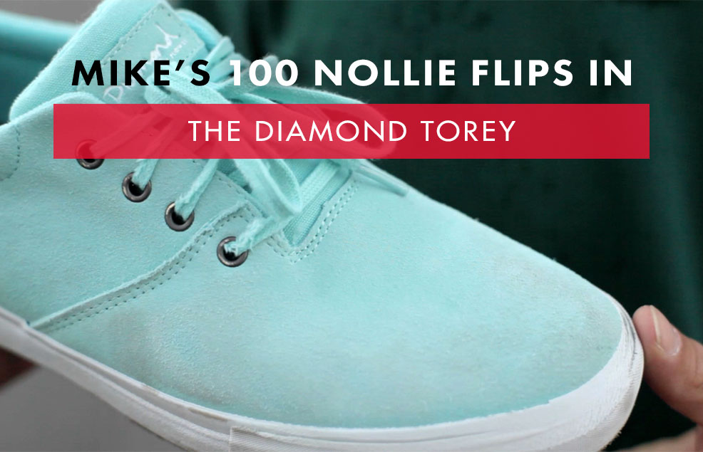 100 Kickflips In The Diamond Supply Co. Torey Shoes