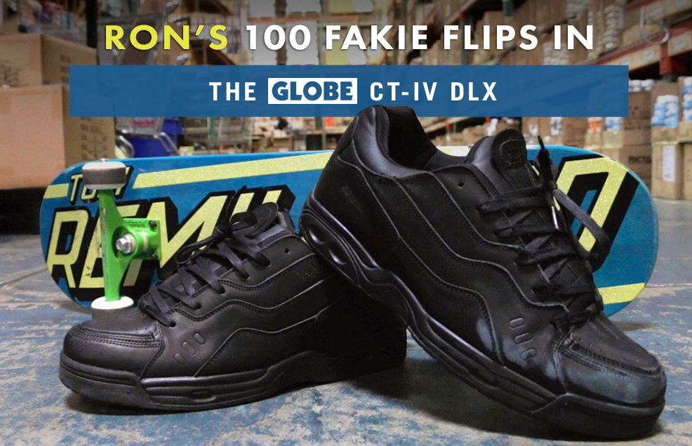 100 Kickflips (Fakie Edition) In The Globe CT-IV DLX Shoe