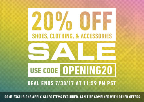 20 Off Grand Opening Sale