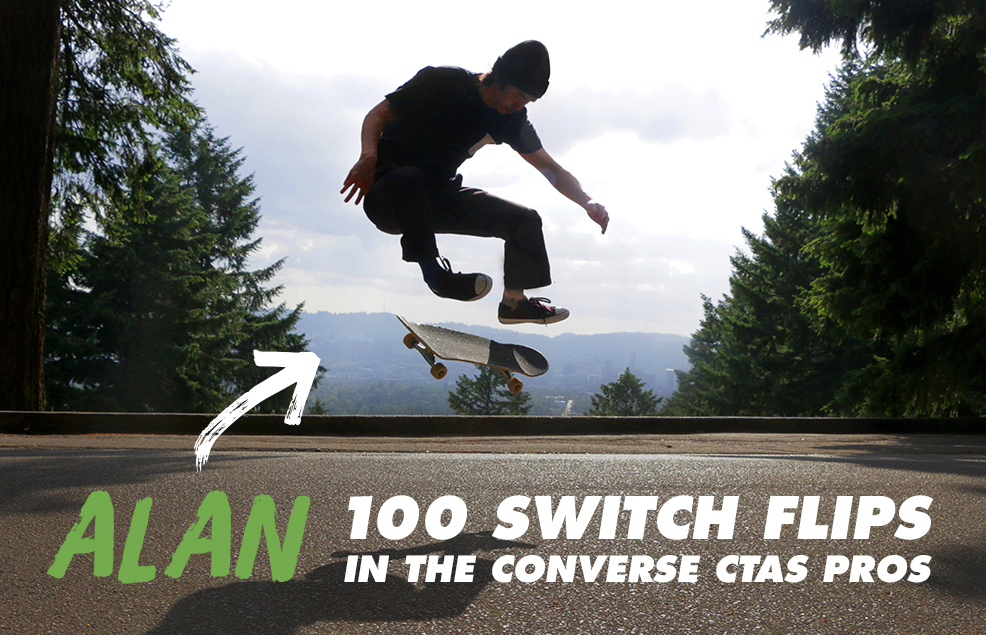 100 Kickflips (Switch Flip Edition) In The Converse CTAS Pro Shoes