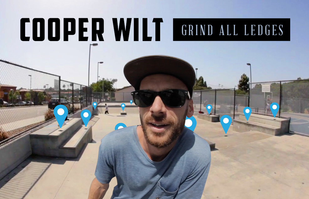 Cooper Wilt Grinds 31 Ledges In One Skatepark