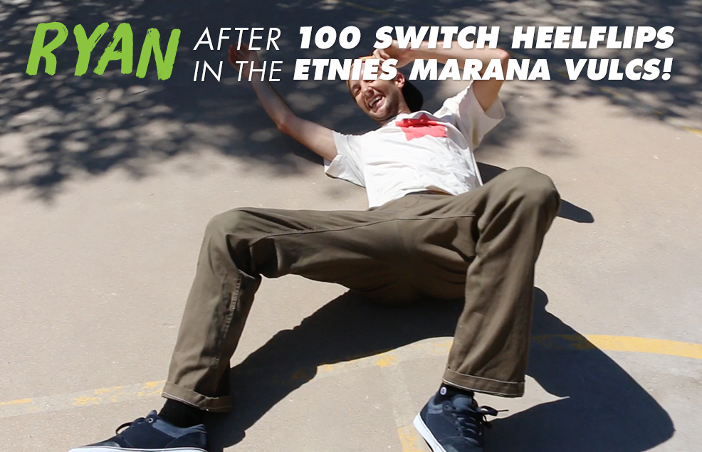 100 Kickflips (Switch Heel Edition) In The Etnies Marana Vulc Shoes