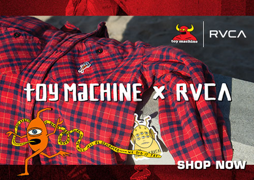 RVCA x Toy Machine